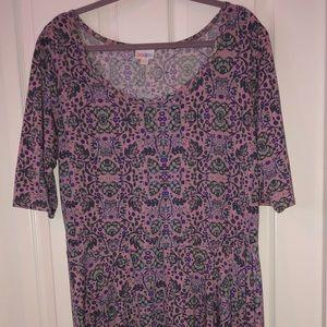 LulaRoe Floral Purple Nicole Dress
